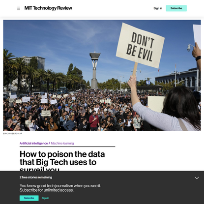 How to poison the data that Big Tech uses to surveil you