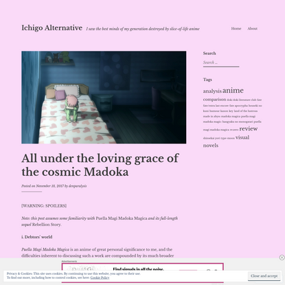 All under the loving grace of the cosmic Madoka