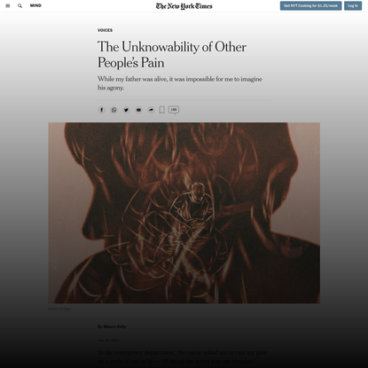The Unknowability of Other People's Pain - The New York Times