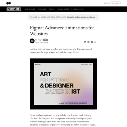 Figma: Advanced animations for Web