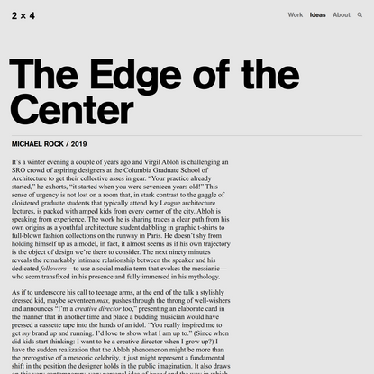 The Edge of the Center — 2x4