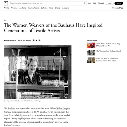 The Women Weavers of the Bauhaus Have Inspired Generations of Textile Artists