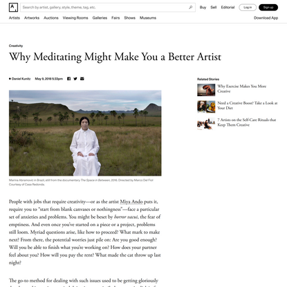 Why Meditating Might Make You a Better Artist