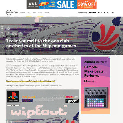 Treat yourself to the 90s club aesthetics of the Wipeout games - CDM Create Digital Music