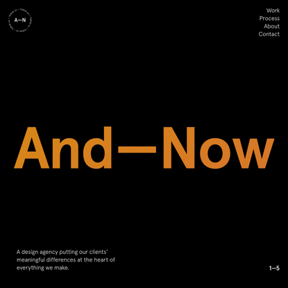 And—Now   Creative Design and Branding Agency