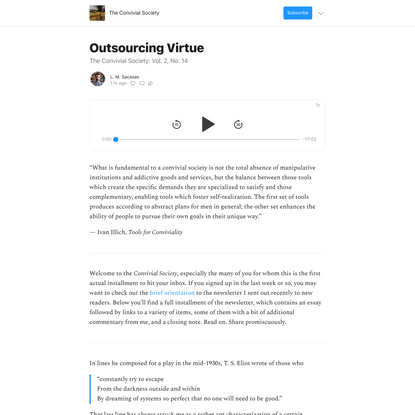 Outsourcing Virtue