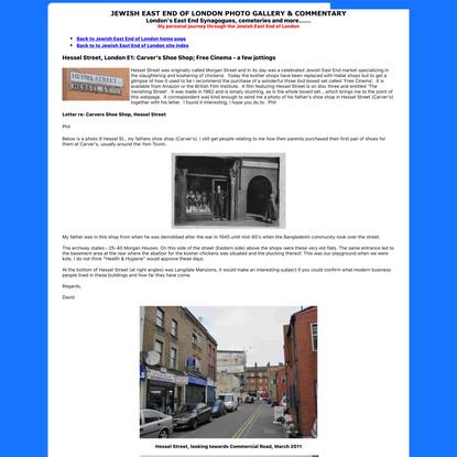 Jewish East End of London - Hessel Street