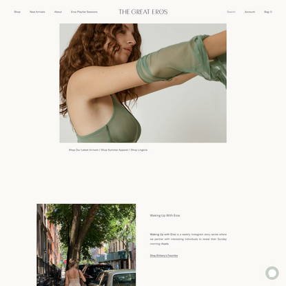The Great Eros: Luxury Lingerie, Clothing, Socks and Accessories