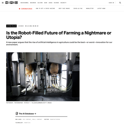 Is the Robot-Filled Future of Farming a Nightmare or Utopia?