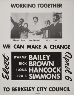 Berkeley City Council election poster (1971)