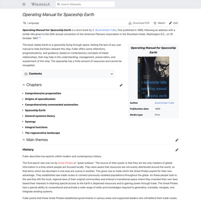 Operating Manual for Spaceship Earth - Wikipedia