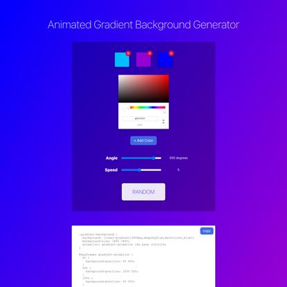 Animated Gradient Background Generator