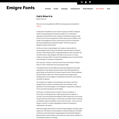 Emigre: Essays - Call It What It Is