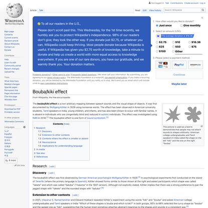 Bouba/kiki effect - Wikipedia