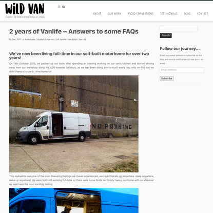 2 years of Vanlife – Answers to some FAQs