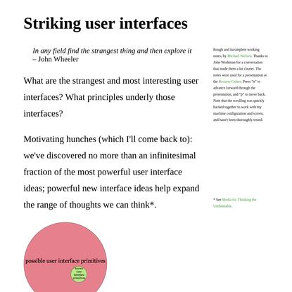 GOOD STUFF –– Striking user interfaces