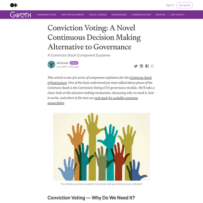 Conviction Voting: A Novel Continuous Decision Making Alternative to Governance