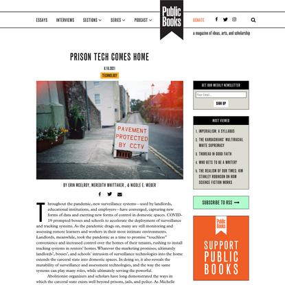 Prison Tech Comes Home | Public Books