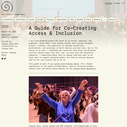 A Guide for Co-Creating Access & Inclusion