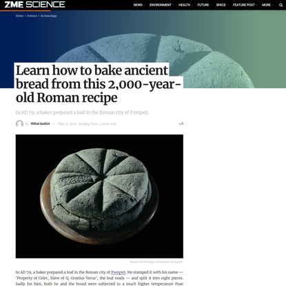 Learn how to bake ancient bread from this 2,000-year-old Roman recipe