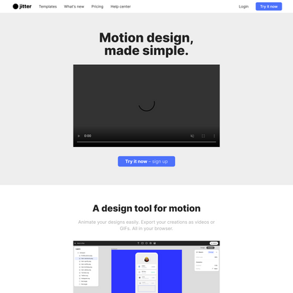 Jitter • The simplest motion design tool on the web.