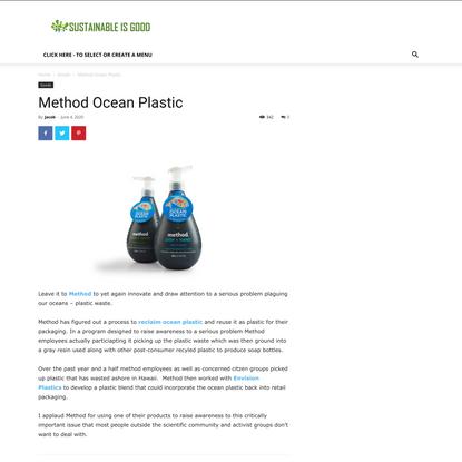 Method Ocean Plastic - Sustainable Is Good
