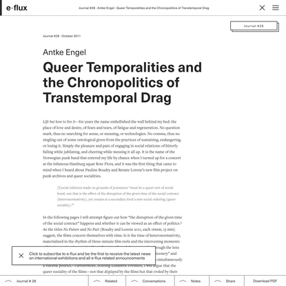Queer Temporalities and the Chronopolitics of Transtemporal Drag