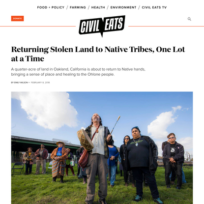 Returning Stolen Land to Native Tribes, One Lot at a Time