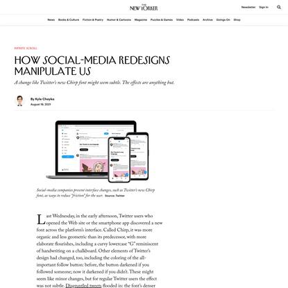 How Social-Media Redesigns Manipulate Us