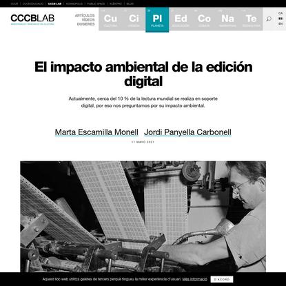 El impacto ambiental de la edición digital | CCCB LAB