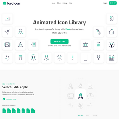 1500+ Animated Icons - Lordicon