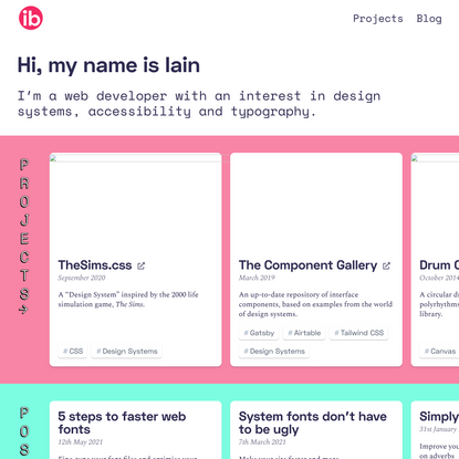 Homepage /// Iain Bean