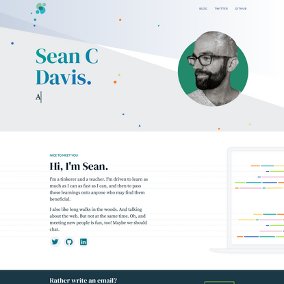Hi, I'm Sean. | Sean C Davis