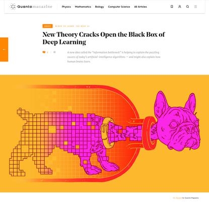 New Theory Cracks Open the Black Box of Deep Learning   Quanta Magazine