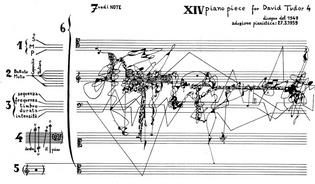 the majestic Five Piano Pieces For David Tudor score by Sylvano Bussotti (1959)