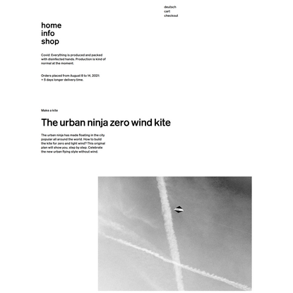 The synergetic kite project: the urban ninja 2021