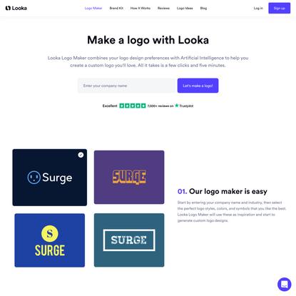 Looka Logo Maker   Create Custom Logos Instantly