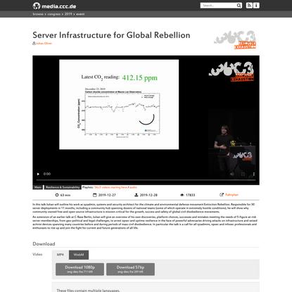 Server Infrastructure for Global Rebellion
