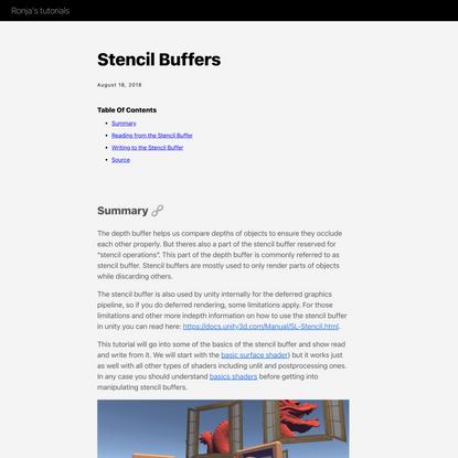 Stencil Buffers