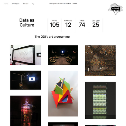 Data as Culture - Art that uses data as a material - ODI Open Data Institute