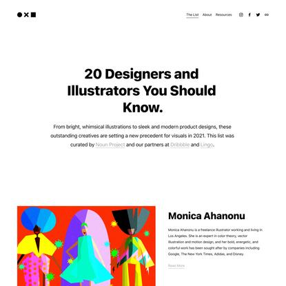 20 Top Designers & Illustrators