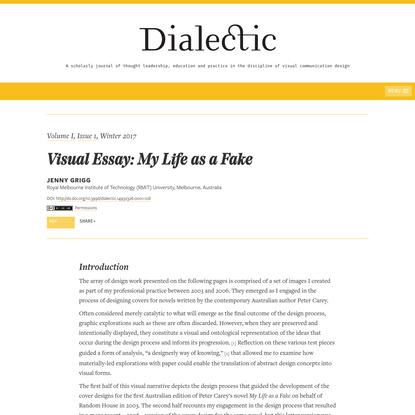 Visual Essay: My Life as a Fake