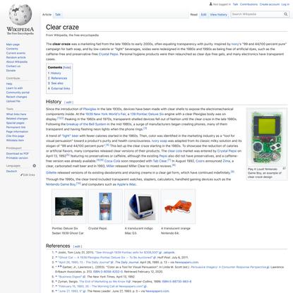 Clear craze - Wikipedia