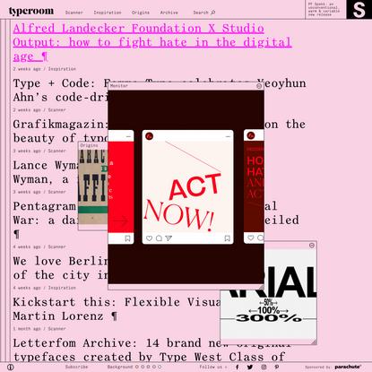 Glorifying Eclectic Typography   TypeRoom