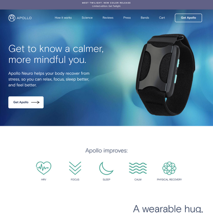Apollo Neuro | Wearable Touch Therapy for Stress Relief