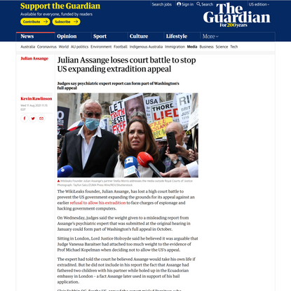 Julian Assange loses court battle to stop US expanding extradition appeal  | Julian Assange | The Guardian