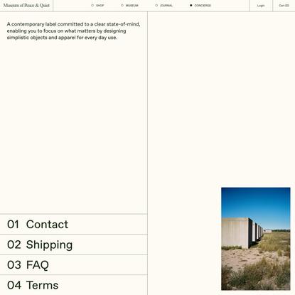 Concierge — Museum of Peace & Quiet
