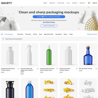 Products: Free mockups - Smarty Mockups