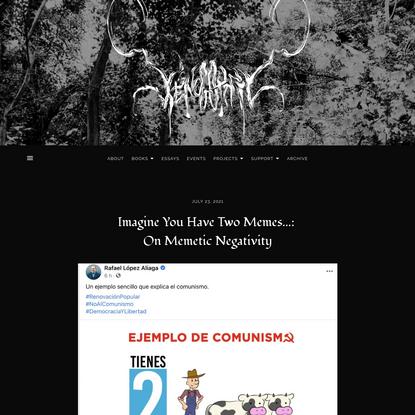 Imagine You Have Two Memes...: On Memetic Negativity