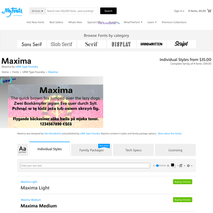 Maxima Font | Webfont & Desktop | MyFonts